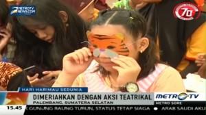 Aksi Teatrikal Meriahkan Peringatan Hari Harimau Sedunia di Palembang
