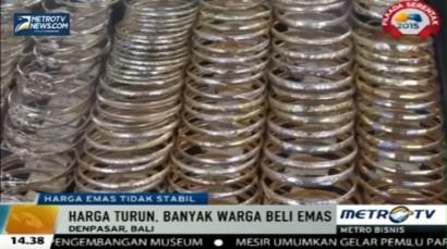 Harga Emas di Bali Turun Hingga Rp5.000/gram