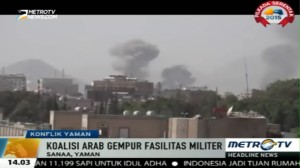 Koalisi Arab Gempur Fasilitas Militer Yaman