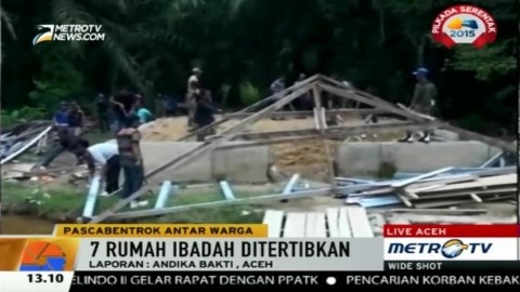 Tujuh Rumah Ibadah di Aceh Singkil Ditertibkan