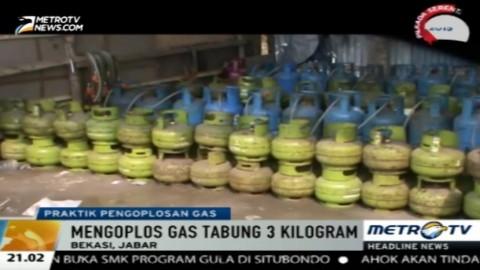 Gudang Pengoplosan Gas di Cibitung Digrebek Polisi