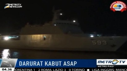 Evakuasi Korban Asap, Kapal TNI AL Tiba di Pelabuhan Trisakti-Banjarmasin