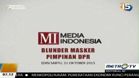 Blunder Masker Pimpinan DPR
