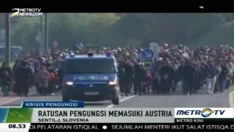 Ratusan Pengungsi Terus Membanjiri Austria