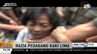 Penertiban PKL di Tanah Abang Diwarnai Kericuhan