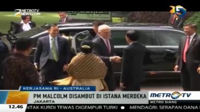 Presiden Sambut PM Malcolm Turnbull di Istana Merdeka