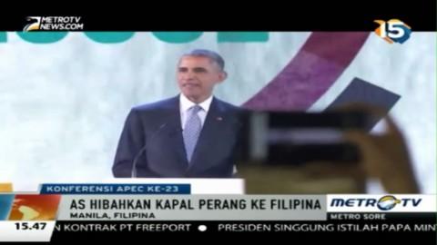 Hadiri Forum APEC, Obama Hibahkan Dua Kapal Perang AS ke Filipina