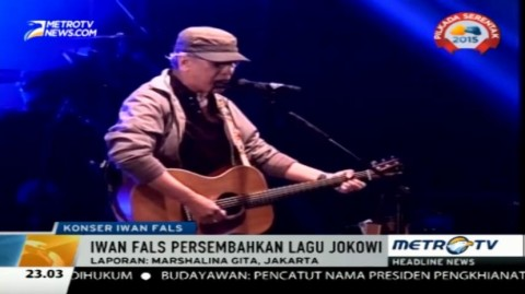 Lagu 'Janji-janji Jokowi' Sedot Perhatian di Konser Iwan Fals