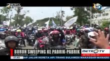 Aksi Sweeping Warnai Unjuk Rasa Buruh di Karawang