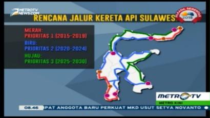 Inilah Rencana Jalur KA Trans Sulawesi