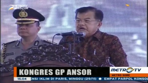 Wapres JK Buka Kongres GP Ansor di Yogyakarta