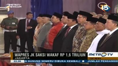 Jusuf Kalla Jadi Saksi Wakaf Rp1,6 Triliun