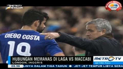 Dicadangkan Mourinho, Diego Costa Lempar Rompi Latihan