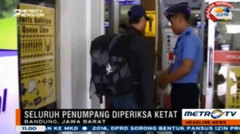 Petugas Bandara Internasional Husein Sastranegara Perketat Keamanan