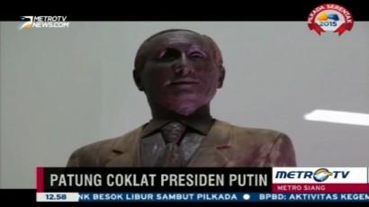 Patung Coklat Vladimir Putin Dipamerkan di Rusia