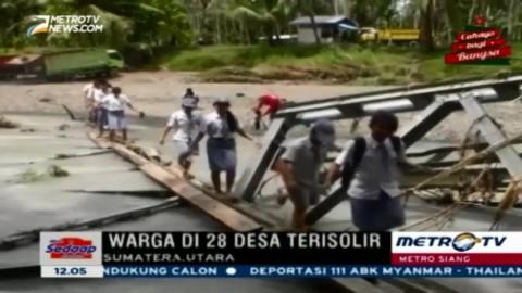 Jembatan Roboh, Dua Kecamatan di Nias Barat Terisolir