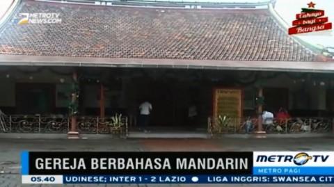 Gereja Santa De Fatima Gunakan Bahasa Mandarin dalam Misa