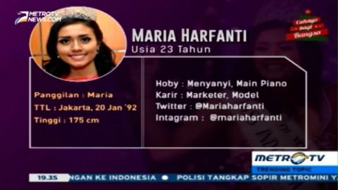 Profil Maria Harfanti, Juara 3 Miss World 2015