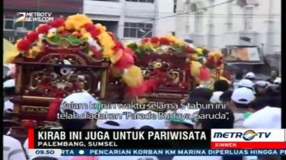 Kirab Budaya Sriwijaya di Palembang Menarik Wisatawan