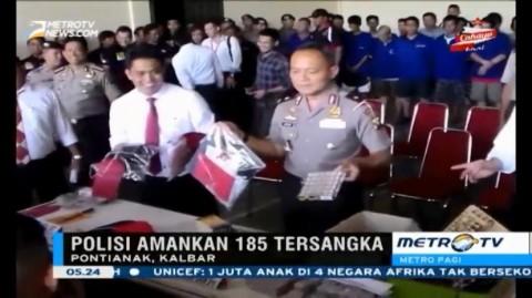 185 Tersangka Diamankan dalam Operasi Pekat II Kapuas 2015