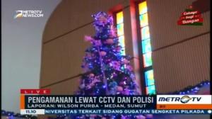Sejumlah Gereja di Medan Bersiap Jelang Ibadah Natal