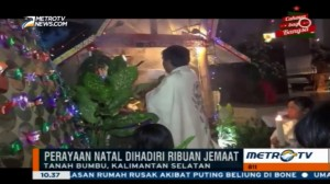 Suasana Perayaan Natal di Beberapa Daerah di Indonesia