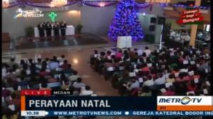 Perayaan Natal di HKBP Sudirman Medan Dihadiri Ribuan Jemaat