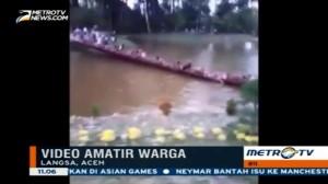 Video Amatir Rekam Jembatan Gantung di Taman Wisata Putus