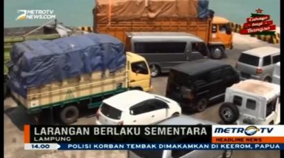 Akan Dilarang Beroperasi, Puluhan Truk Berhenti di Pelabuhan Bakauheni