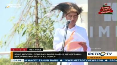 Pidato Jokowi dalam Ekspedisi Kapsul Waktu Impian di Merauke