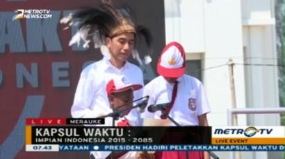 2 Pelajar Merauke Bacakan Impian Indonesia di Hadapan Presiden