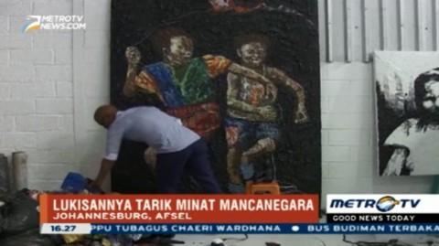 Seniman Afrika Selatan Ciptakan Lukisan dari Sampah Plastik