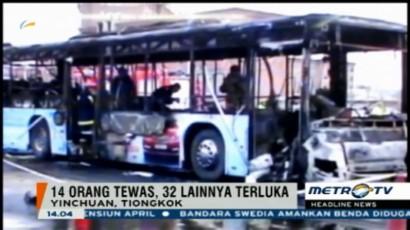 14 Orang Tewas Akibat Kebakaran Bus di Tiongkok