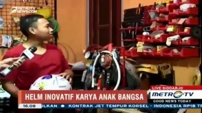 Melihat Bengkel Helm Inovatif Karya Anak Bangsa