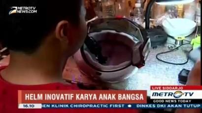 Melihat Cara Kerja Helm Anti-Gegar Otak Buatan Remaja Surabaya