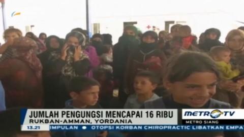 Pengungsi di Yordania Capai 16 Ribu Orang
