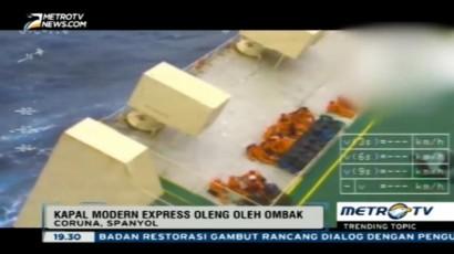 Video Penyelamatan 22 Kru Kapal Modern Express di Spanyol