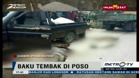 Anggota Brimob dan Kelompok Santoso Baku Tembak di Poso