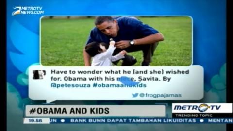 Tagar #ObamaAndKids Tunjukkan Keakraban Obama dan Anak-anak