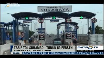 Awal Maret, Tarif Tol Suramadu Turun 50 Persen