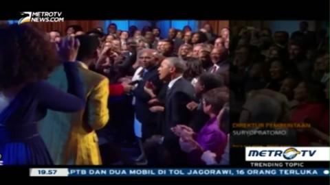 Obama Unjuk Suara di Konser Penghormatan Ray Charles