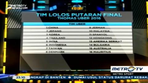 Tim Uber Indonesia Lolos Putaran Final