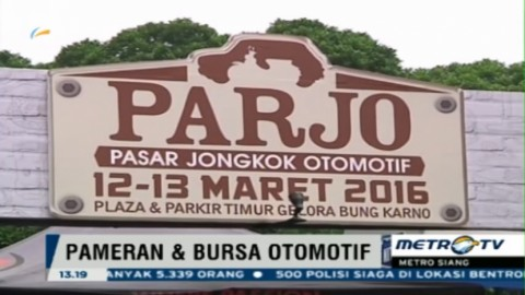 Pasar Jongkok Otomotif 2016 Kembali Digelar