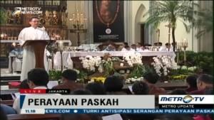 Misa Paskah di Gereja Katedral Berlangsung Khidmat