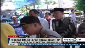 Pejabat Lapas Tinjau Pelaksanaan Olah TKP Kebakaran Rutan Malabero