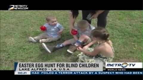 Easter Egg Hunt for Blind Children in Florida