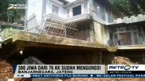 Pascalongsor Banjarnegara, Puluhan Rumah Terancam Ambruk