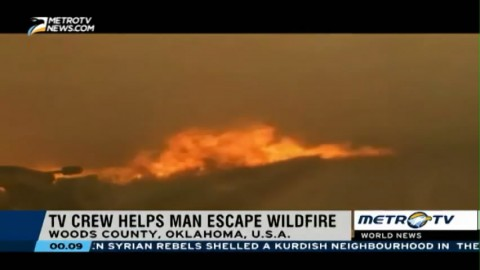 TV Crew Helps Man Escape Wildfire