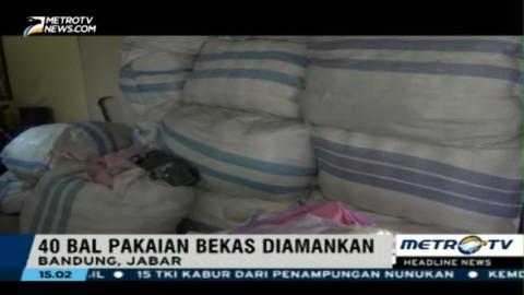 Polda Jabar Gagalkan Penyelundupan Pakaian Bekas Impor