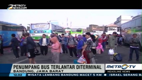Ribuan Penumpang Bus Terlantar di Terminal Pelabuhan Bakauheni